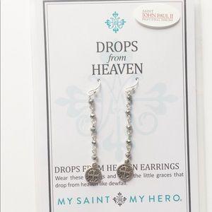 Drops From Heaven Silver coated earrings